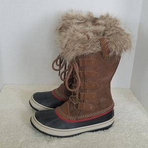 Sorel Joan of Arctic Brown Blue Waterproof Boots